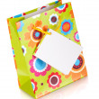 Colored gift bag — Stock Photo