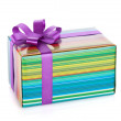 Colorful gift box with ribbon and bow — Stock Photo #15395463