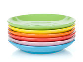 Set of colorful saucers — Stock Photo