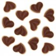 Heart shaped chocolate cookies — Foto Stock #19991441