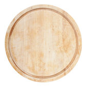 Round chopping board — 图库照片