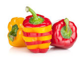Ripe colorful bell peppers — Stock Photo