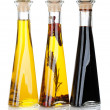 Stock Photo: Olive oil and vinegar bottles