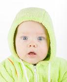 Closeup portrait of cute baby — Stock Photo