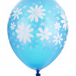 Blue balloon with flower decoration — Stock Photo #25553875