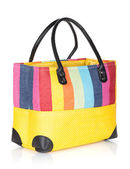 Colorful beach bag — Stock Photo