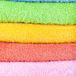 Colored towels background — Stock Photo