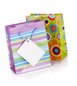 Two colored gift bags — Stock Photo