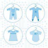 Baby clothing set — Stock Vector
