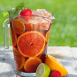Refreshing fruit sangria (punch) — Stock Photo #29350159