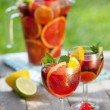Refreshing fruit sangria (punch) — Stock Photo #29350275