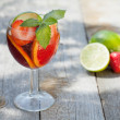 Refreshing fruit sangria (punch) — Stock Photo #29350329
