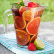 Refreshing fruit sangria (punch) — Stock Photo #30372179