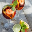 Refreshing fruit sangria (punch) — Stock Photo #30732181