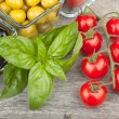 Fresh ripe food ingredients — Stock Photo