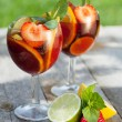 Refreshing fruit sangria (punch) — Stock Photo #32171867