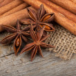 Cinnamon and anise — Stock Photo #32786549
