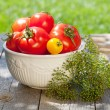 Fresh ripe tomatoes — Stock Photo