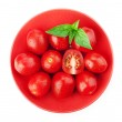 Cherry tomatoes and basil — Stock Photo #32786757