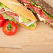 Fresh sandwiches  — Stock Photo