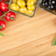 Olives, tomatoes and basil — Stock Photo #33102957