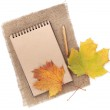 Brown paper notepad — Stock Photo