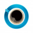 Blue coffee cup — Stock Photo