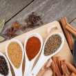 Stock Photo: Herbs and spices selection
