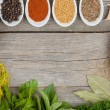 herbs and spices selection — Stock Photo