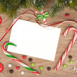 Blank christmas greeting card — Stock Photo #34312421
