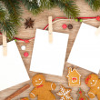 Blank christmas photo frames — Stockfoto