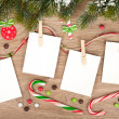 Blank christmas photo frames — Foto Stock