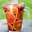 Refreshing fruit sangria — Foto de stock #35665223