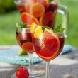 Refreshing fruit sangria — Foto de stock #35665249