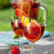 Foto de Stock  : Refreshing fruit sangria