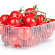 Cherry tomatoes in packaging — Stock Photo