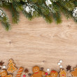 Stok fotoğraf: Christmas fir tree and gingerbread cookies