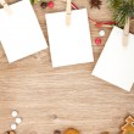 Blank christmas photo frames — Stock Photo #35665691