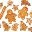 Homemade various christmas gingerbread cookies — Stock Photo #35665759