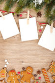 Blank christmas photo frames — ストック写真