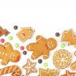 Homemade various christmas gingerbread cookies — Stock Photo #36013301