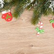 Christmas fir tree and decor — Foto de Stock