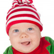 Newborn baby santa — Stock Photo