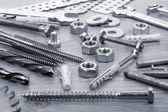 Nuts, screws and bolts closeup — Foto de Stock
