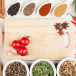 Colorful herbs and spices — Stock Photo