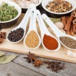 Stock Photo: Colorful herbs and spices