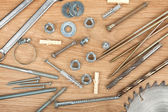 Nuts, screws and bolts — Stock Photo