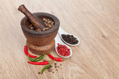 Mortar and pestle — Stock Photo