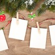 Blank christmas photo frames — Stock Photo