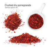 Crushed dry pomegranate — Stock Photo